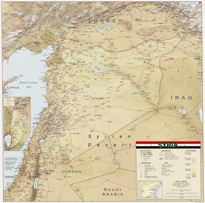 Sirija - Golano aukstumos