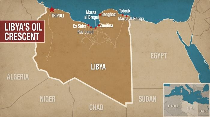 libya oil crescent